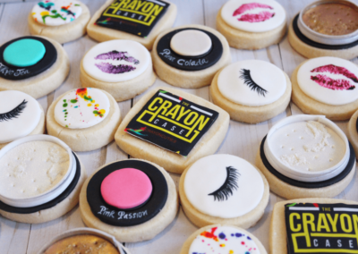 Crayon Case launch party cookies