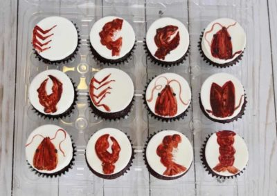 Crawfish cupcakes