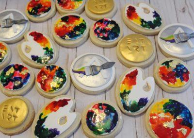 Water Color Art Cookies